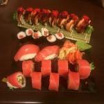 Tuńczyk i grillowany łosoś